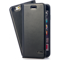 Azuri wallet case - black - for iPhone 6/6S