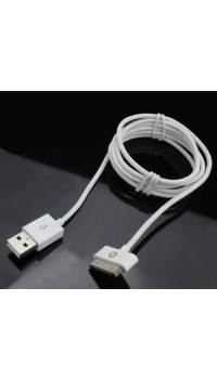 Muvit USB datakabel met Apple 30-pin connector - wit - 2.1 Amp - 1.2 m
