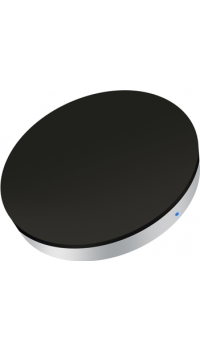 ZENS single mini Qi wireless charger with induction - black